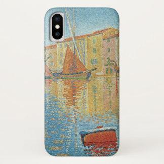 De rode Boei door Paul Signac, Vintage iPhone X Hoesje