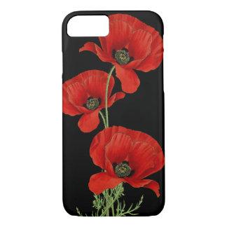 De rode Botanische Wijnoogst van Papavers iPhone 8/7 Hoesje