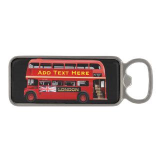 De rode Bus Themed van Londen Magnetische Flesopener