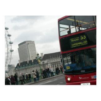 De Rode Bus van Londen Briefkaart