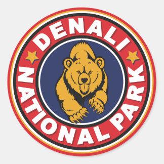De Rode Cirkel van Denali Ronde Sticker