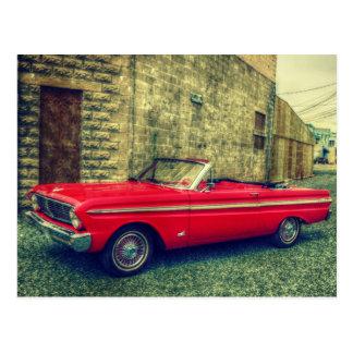 De rode Convertibele Auto van de Collector de stad Briefkaart