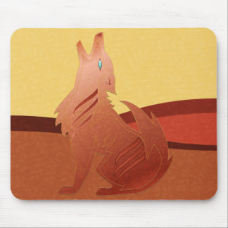 De rode Coyote Mousepad van de Jaspis Muismat