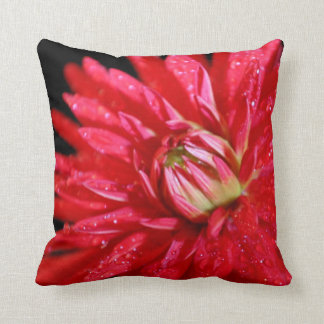 De rode Dahlia van de Cactus Sierkussen