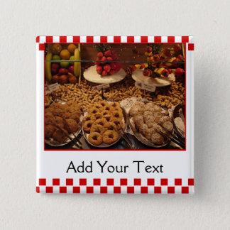 De rode Desserts van de Tegel Vierkante Button 5,1 Cm