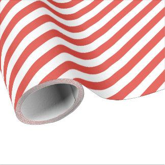 De Rode Diagonale Streep van de brand Cadeaupapier