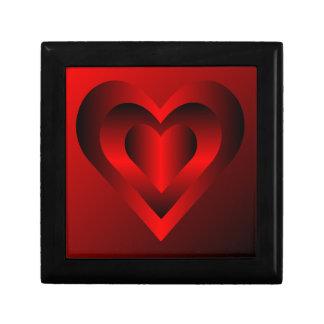De rode Doos van de Gift van het Hart Decoratiedoosje