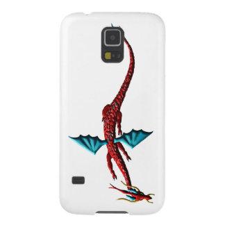 De rode Draak van het Serpent Galaxy S5 Hoesje