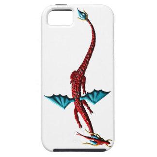 De rode Draak van het Serpent Tough iPhone 5 Hoesje
