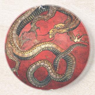 De Rode Draak van Hokusai - het Onderzetter van he