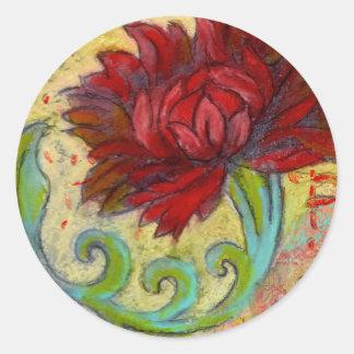 De rode Droom van Lotus Ronde Sticker