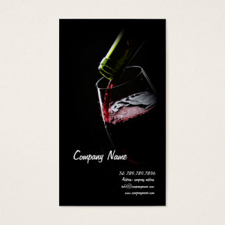 De Rode Druif van Sommelier van de Wijnmakerij van Visitekaartjes