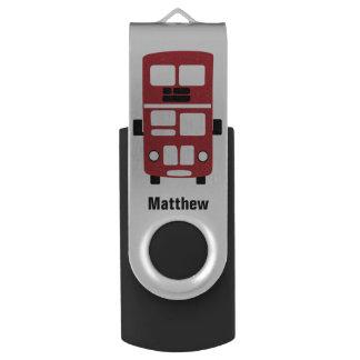 De rode dubbele aandrijving van de douaneUSB van Swivel USB 2.0 Stick