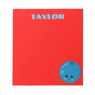 De rode en Blauwe Bloesem van de Bosbes Notitieblok