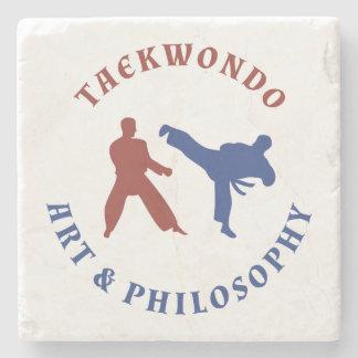 De Rode en Blauwe Zegel van Taekwondo Stenen Onderzetter
