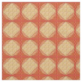 De rode en Gele Abstracte Stof van het Linnen van