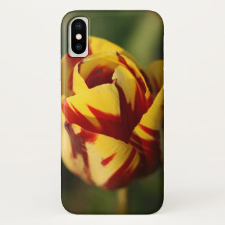 De rode en Gele Bloem van de Tulp iPhone X Hoesje