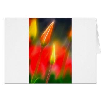 De rode en Gele Gloed van de Tulp Briefkaarten 0