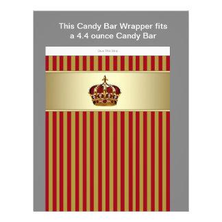 De rode en Gouden Omslag van de Bar van het Snoep  Flyer 21,6 X 27,9 Cm