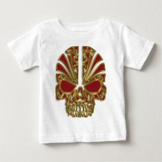 De rode en gouden schedel van de suikerschedel baby t shirts
