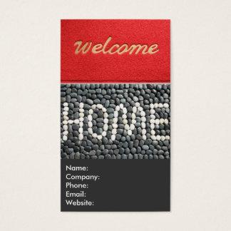 De rode en Grijze Welkome Makelaar in onroerend Visitekaartjes