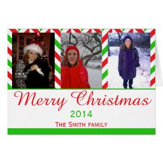 De rode en Groene Foto van Kerstmis van de Wenskaart