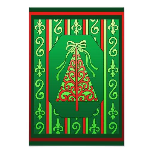 De rode en Groene Kerstboom van de Strepen van Fotoprints