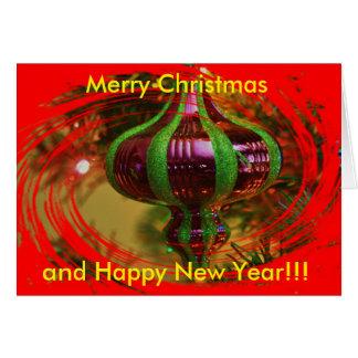 De rode en Groene Kerstkaart van de Bol van Wenskaart