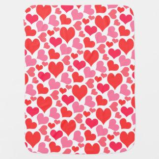De rode en Roze Harten van de Valentijnsdag voor Baby Dekentje