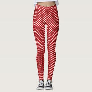 De rode en Witte Beenkappen van Minnie van de Stip Leggings