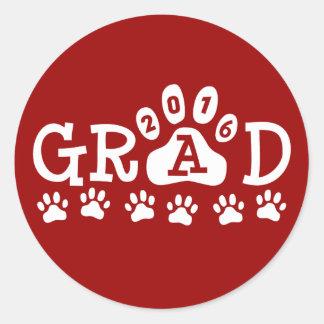 De Rode en Witte POTEN van het AFSTUDEERDER 2016 - Ronde Stickers