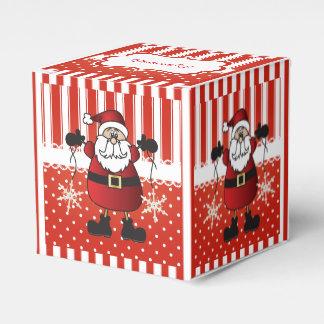 De rode en Witte Strepen en de Kerstman van het Bedankdoosje