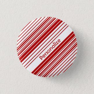De rode en Witte Strepen van het Snoep van de Ronde Button 3,2 Cm