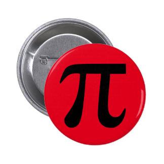 De rode en Zwarte Knoop van Pi Ronde Button 5,7 Cm