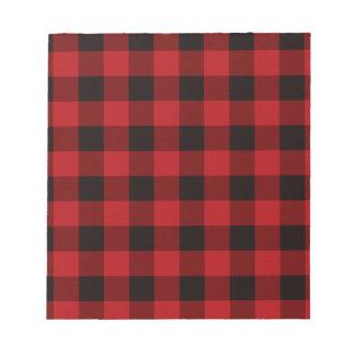 De rode en zwarte plaid van het land notitieblok