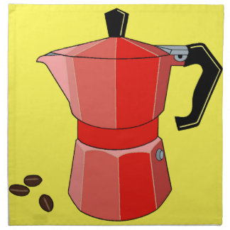 De rode Espresso van de Regenboog Katoenen Servet