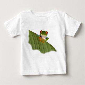 De rode Eyed T-shirt van het Baby van de Kikker