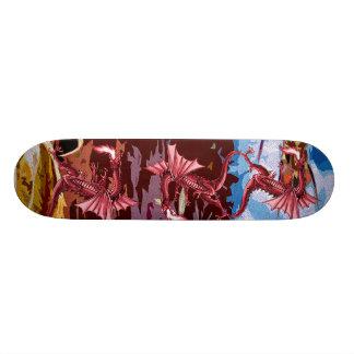 De rode Fantasie van de Draak Skate Decks