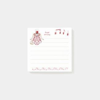 De rode Filigraan & Gouden Engel van Kerstmis van Post-it® Notes