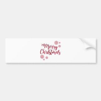 De rode Fonkeling schittert Vrolijke Kerstmis Bumpersticker