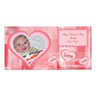 De rode Fractals Kaart van de Foto van Valentijn Foto Wenskaarten