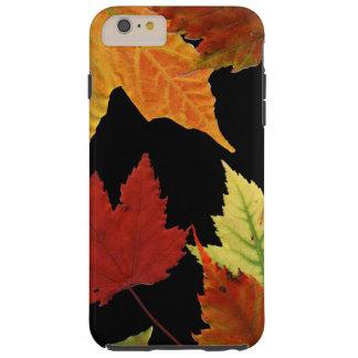 De rode Geeloranje Bladeren van de Herfst op Tough iPhone 6 Plus Hoesje