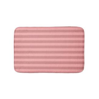 De Rode Gestreepte Badmatten van de pastelkleur Badmat