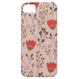 De rode Getrokken Krabbel van de Tulp Hand Barely There iPhone 5 Hoesje