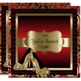 De rode & Gouden Hoge Uitnodiging van de