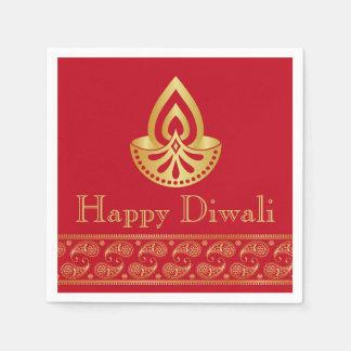 De rode & Gouden Indische Partij van Diwali van Papieren Servetten