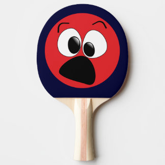 De rode Grappige Peddel van de Pingpong van het Tafeltennis Bat