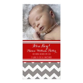 De rode Grijze Aankondiging van de Geboorte van Foto Wenskaarten