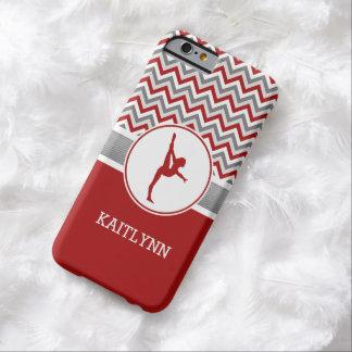 De rode/Grijze Gymnastiek van de Strepen van de Barely There iPhone 6 Hoesje