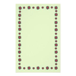 De rode Groene Poinsettia bloeien de Briefpapier